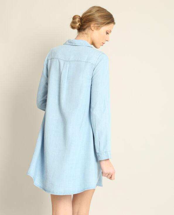 Abito camicia blu chiaro