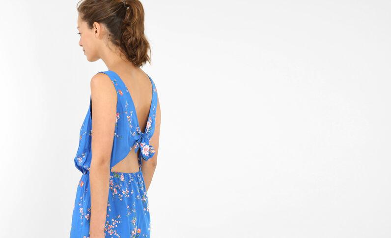 Salopette corta schiena scoperta blu