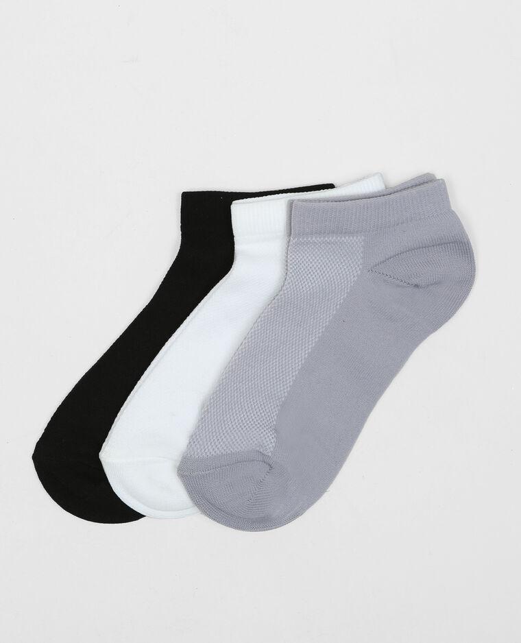 Lotto di calze invisibili tecniche nero