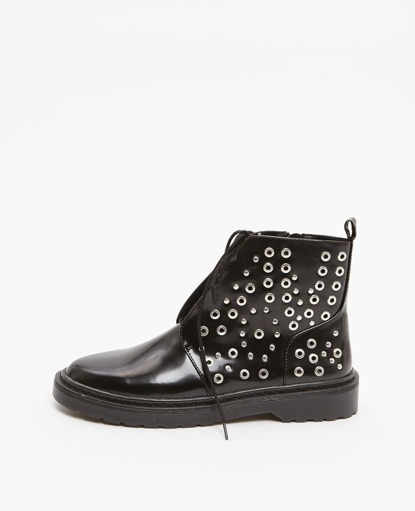Boots rangers con rivetti nero