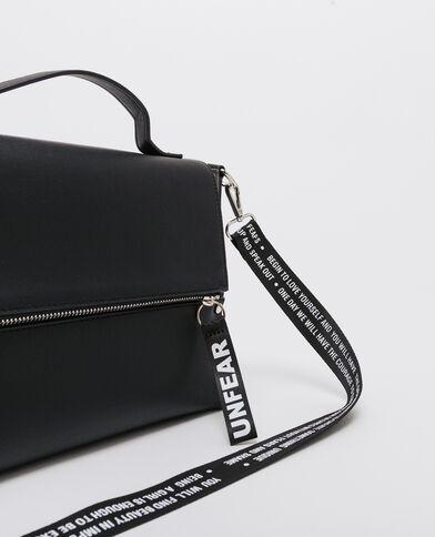 Borsa a cartella con borchie nero