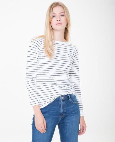 T-shirt basic bianco sporco