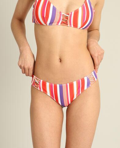 Pezzo sotto di bikini a righe rosso