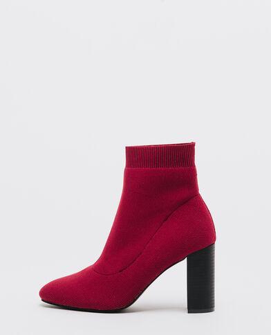 Boots con tacchi e fibbie mattone