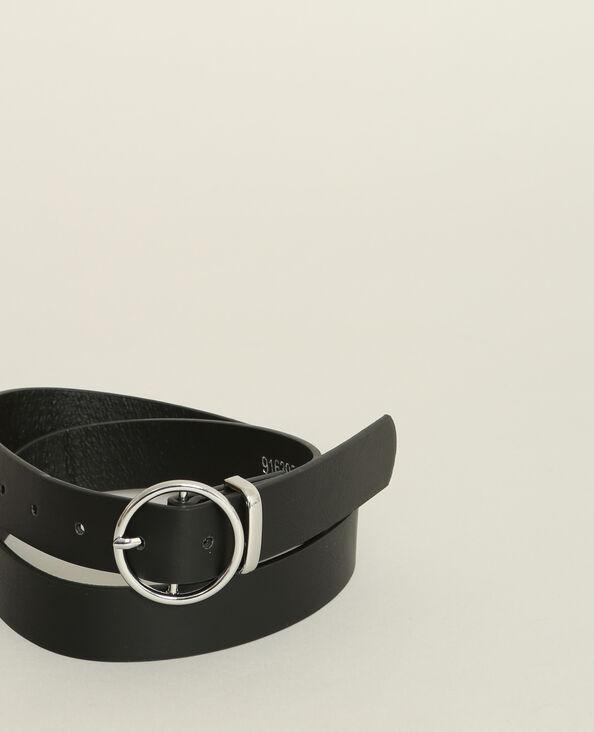 Cintura in finta pelle nero