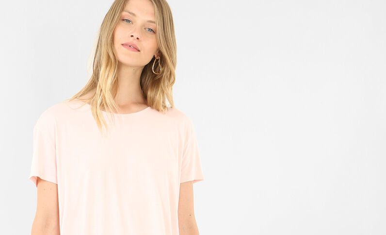 T-shirt maniche corte rosa
