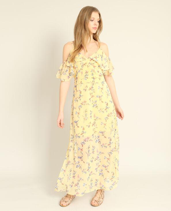 Abito lungo a fiori giallo
