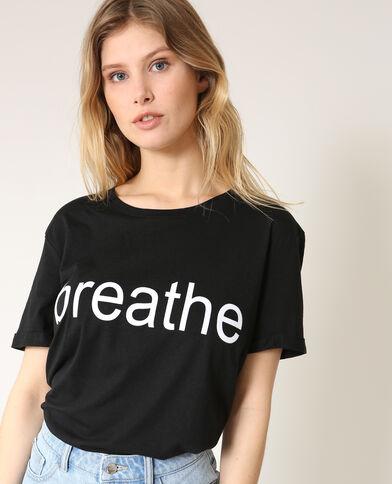 T-shirt Breathe nero