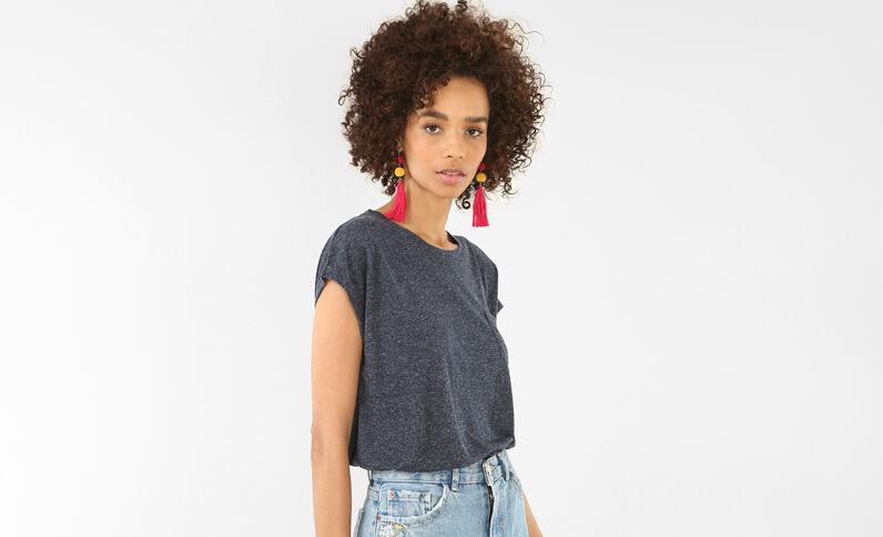 T-shirt maniche corte blu marino