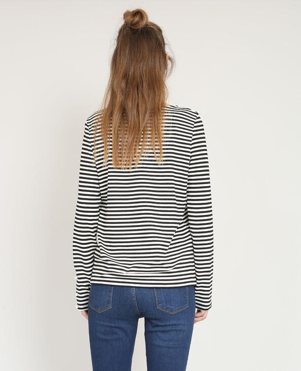 T-shirt con perle nero
