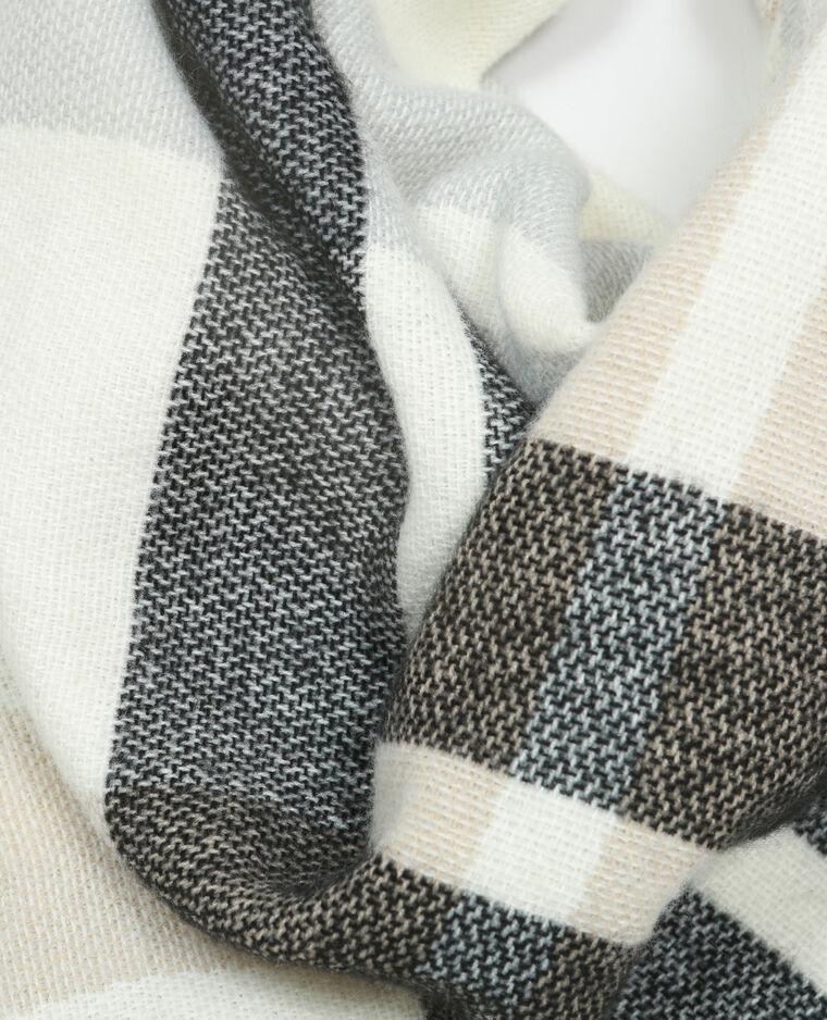 Sciarpa plaid a quadri bianco