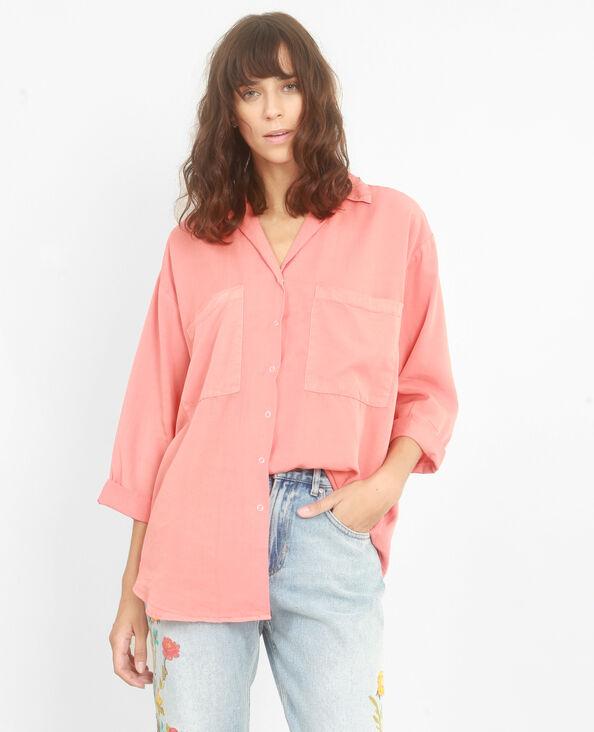 Camicia XL morbida corallo