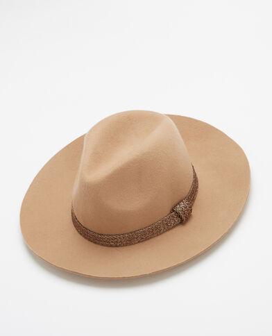 Cappello fedora caramello