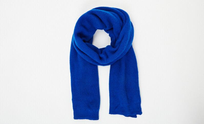 Sciarpa calda blu