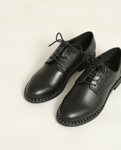 Scarpe derby con borchie nero