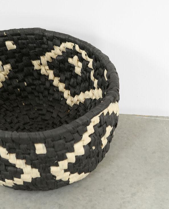 Piccolo cesto in corda nero