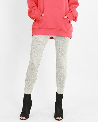 Leggings in maglia grigio