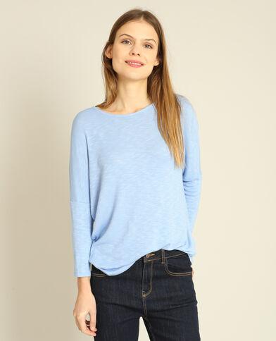 T-shirt maniche a pipistrello blu cielo