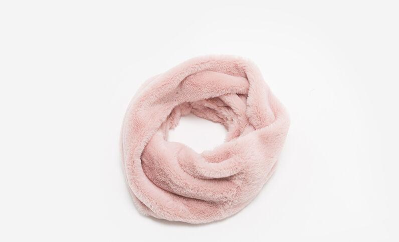 Collo in pelliccia ecologica rosa