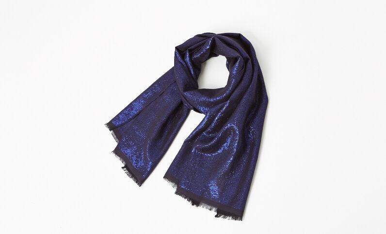 Stola lurex blu marino