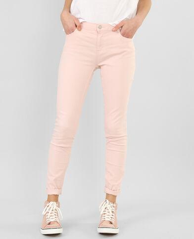Pantaloni slim rosa