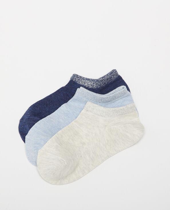 Lotto da 3 paia di calze basse blu