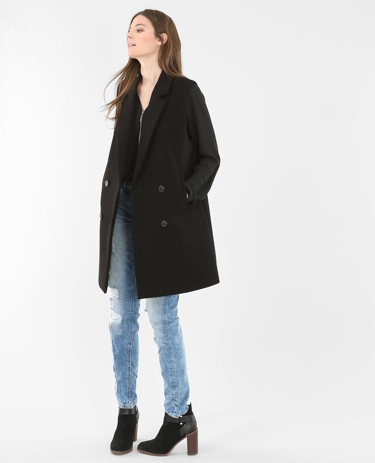 Blusa con zip nero
