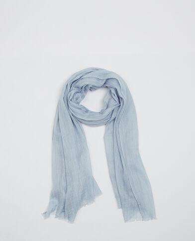 Sciarpa sottile a righe blu cielo