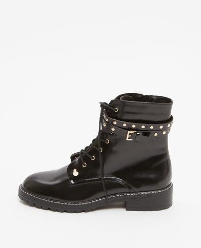 Boots rangers con cinturini nero