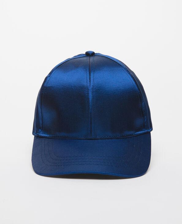 Cappellino satinato blu