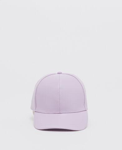 Cappellino similpelle viola