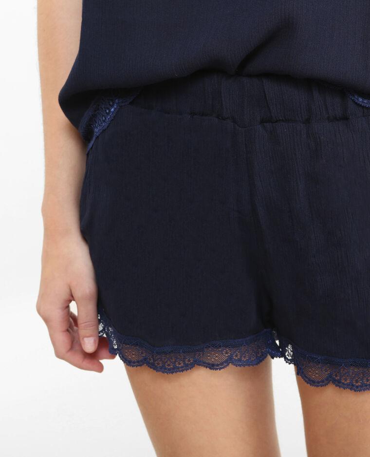 Short homewear pizzo blu