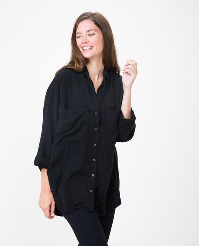 Camicia XL morbida grigio scuro