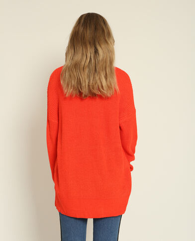 Pull asimmetrico rosso