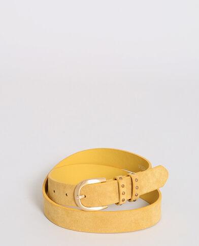 Cintura effetto pelle giallo
