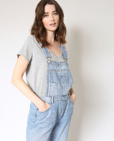 Salopette in jeans blu denim