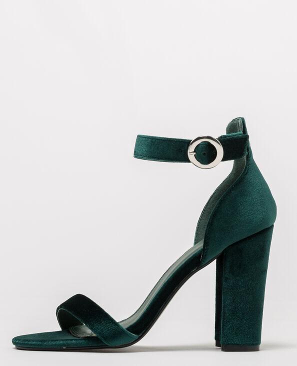 Sandali velluto verde