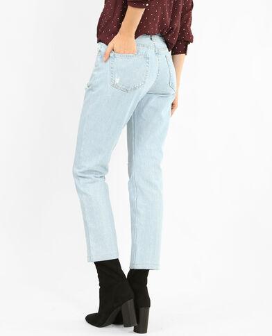 Jeans mom destroy blu chiaro