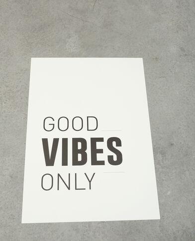 Poster con messaggio bianco