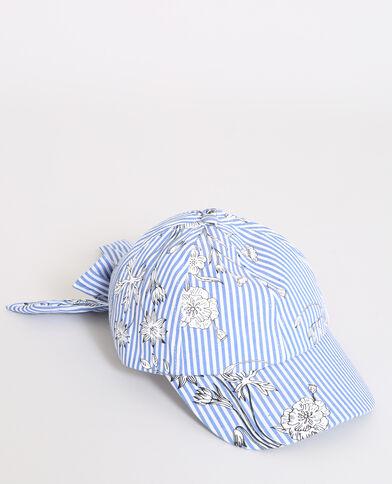 Cappellino a righe blu