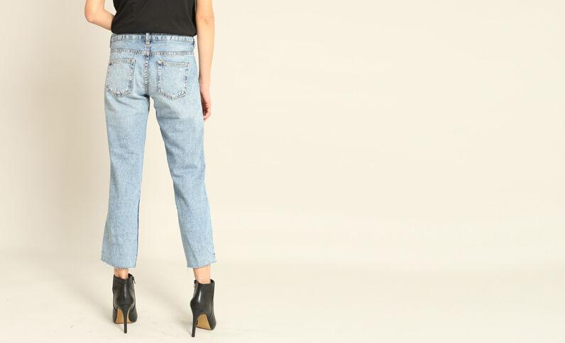 Jeans dritto 7/8 blu denim