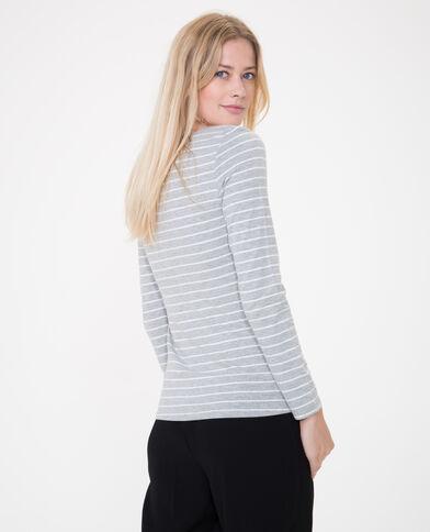 - T-shirt maniche lunghe grigio chiné