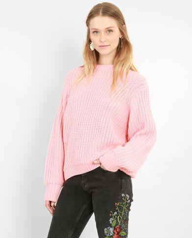Pull in maglia spessa rosa salmone
