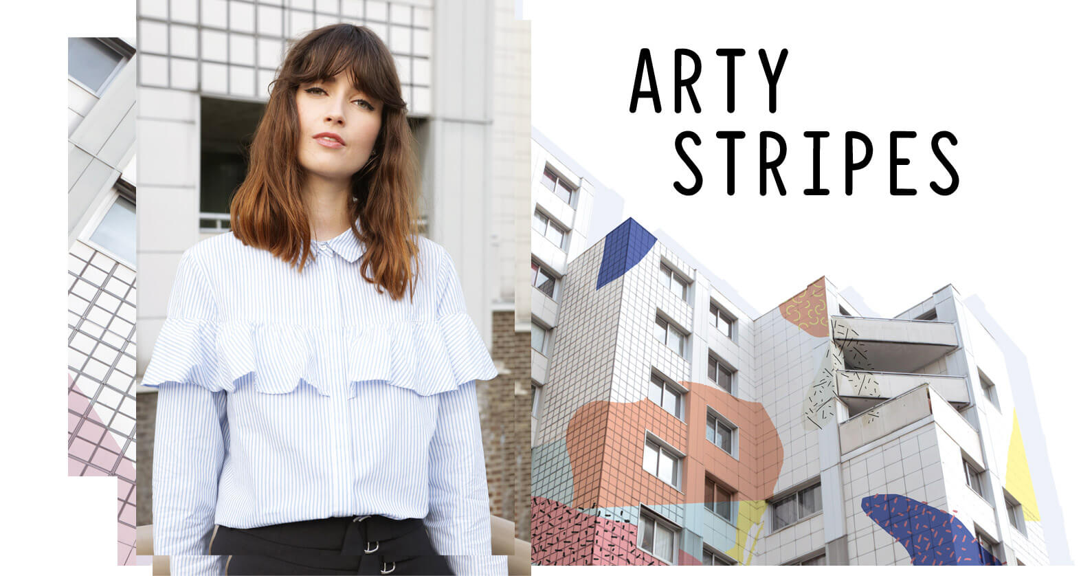 PIMKIE arty stripes shirting