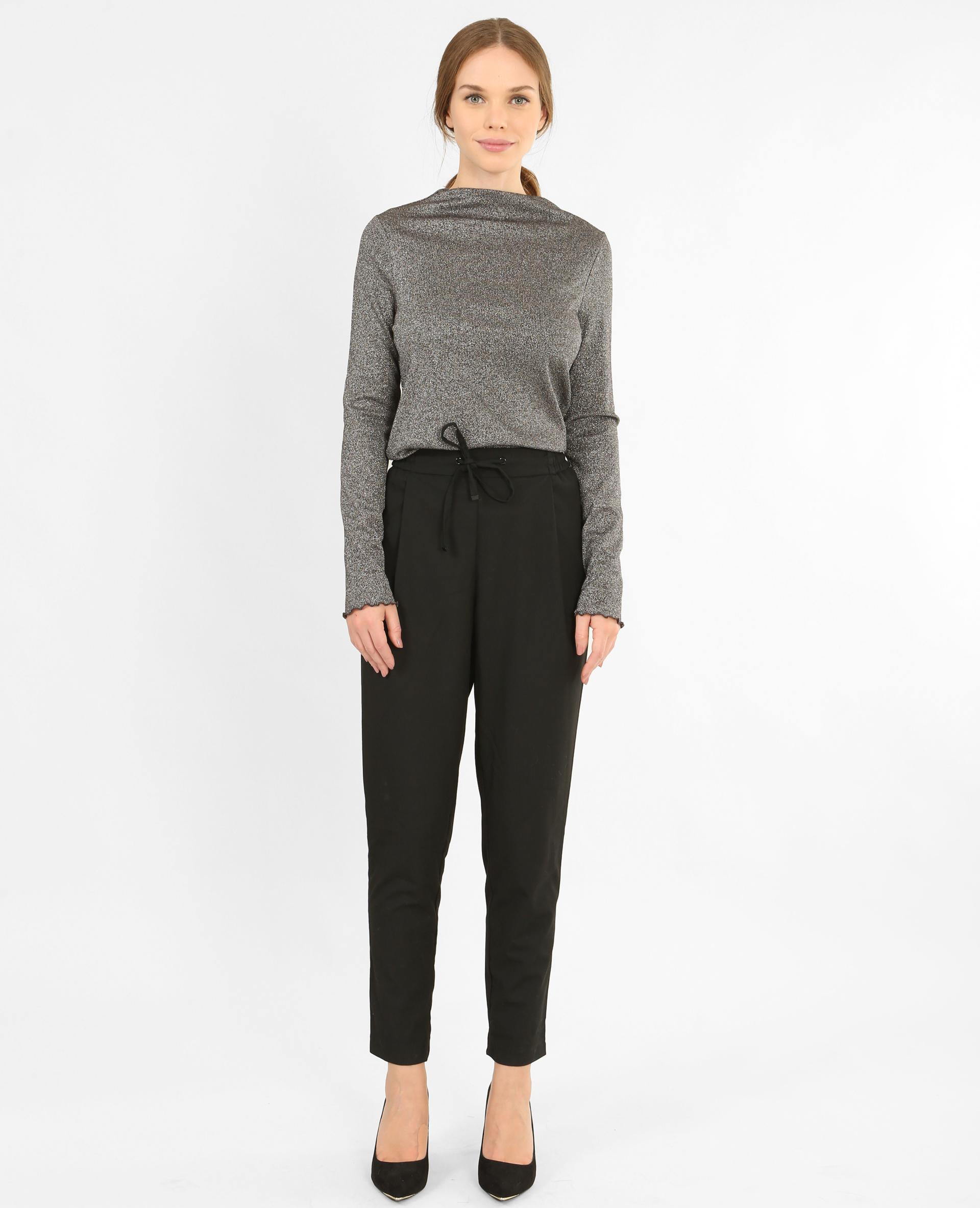 T-shirt lurex grigio