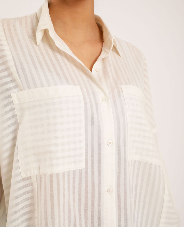 Camicia larga bianco