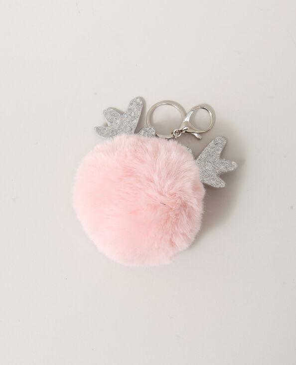 Portachiavi pompon rosa