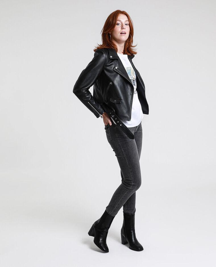 Jeans skinny mid waist grigio antracite