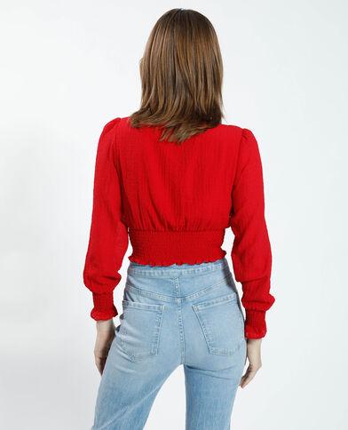 Camicia cropped rosso - Pimkie