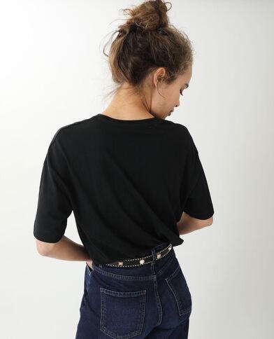 T-shirt oversize a maniche corte nero